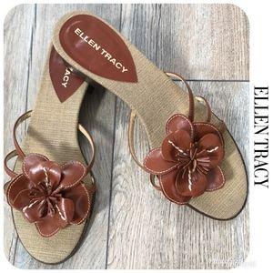 LIKE NEW ELLEN TRACY Sandals Sz 9M $89!